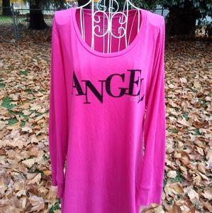 VICTORIA'S SECRET Pink Sleep Shirt L